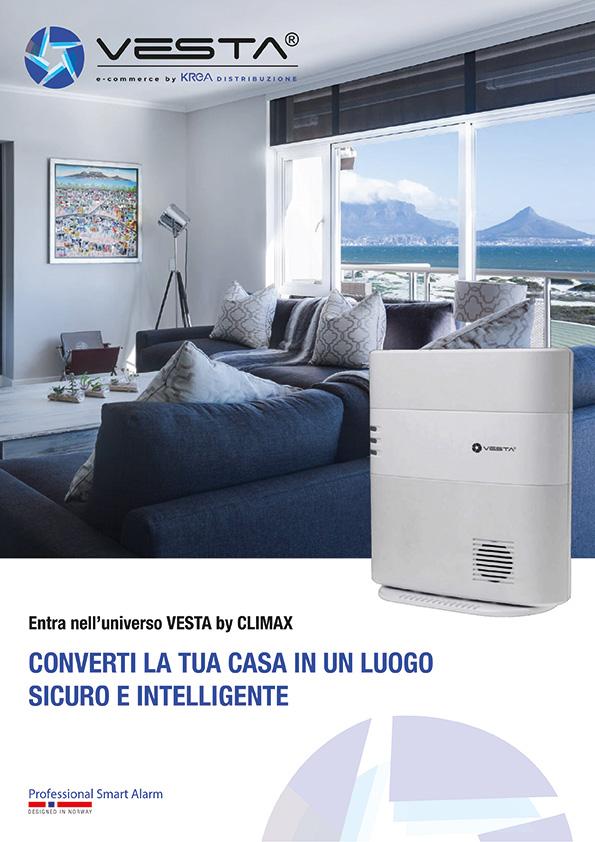 Brochure immagine di download antifurto Vesta