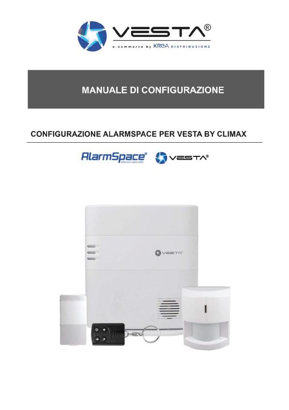 Manuale di configurazione immagine di download antifurto Vesta
